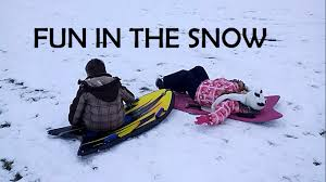 kids sledding down snow hills youtube
