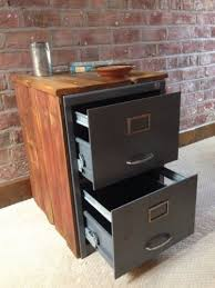 how to build a file cabinet drawer refinished 2 drawer letter size metal filing cabinet w wood top