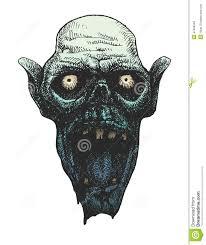 Halloween Monster Mask by Evil Bald Halloween Monster Portrait Stock Illustration Image