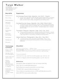 Freelance Writer Resume Sample by Chronological News Reporter Resume Template