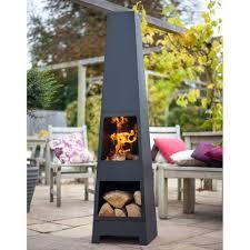 patio heater on sale la hacienda malmo steel chimenea log store black patio heater