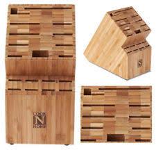 sabatier trompette kitchen knife storage block wooden knives