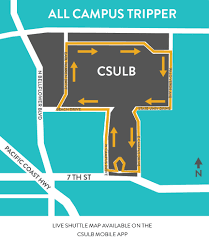 Cerritos College Map Shuttle California State University Long Beach