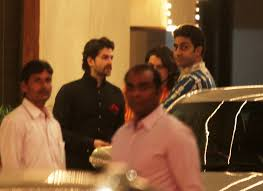 neil nitin mukesh and abhishek bachchan at amitabh bachchan s