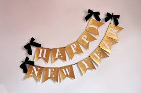 Happy New Years Eve Decorations by Happy New Years Banner Handcrafted In 3 5 Business Days