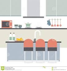 modern flat design kitchen interior stock vector image 46408985
