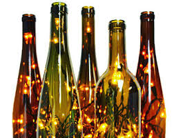 recycled wine bottle light wine gift fall decor wine