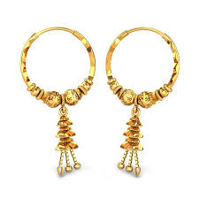 gold ear ring image yellow gold 22k kirsty gold earring candere