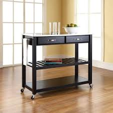 Stainless Top Kitchen Island by Kitchen Stainless Steel Kitchen Cart Inside Pleasant Stainless