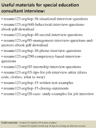 Special Education Resume Samples by Top 8 Special Education Consultant Resume Samples