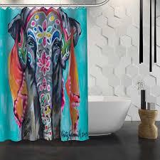 Animal Shower Curtains Sale Custom Elephant Animal Shower Curtain Waterproof Fabric
