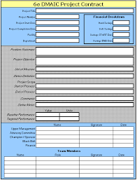 Six Sigma Excel Templates Templates That Can Be Used In A Six Sigma Or Lean Improvement Project