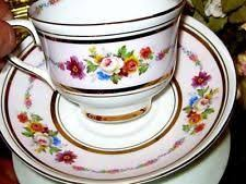 bone china tea cup flower design by colclough china made in