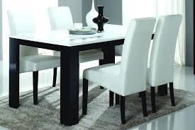 ensemble table et chaise cuisine pas cher table de salle à manger design laquée et blanche dali buffet