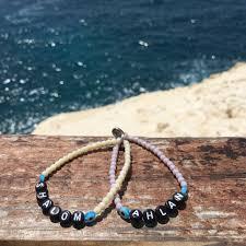 glass beads bracelet images You name it personalised name alphabet glass bead bracelet dana JPG