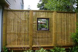 excellent unique fencing idea from solid placed for backyard
