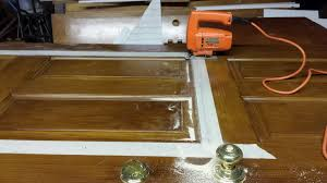 How To Cut Door Frame For Laminate Flooring How To Add A Decorative Glass Window To A Fiberglass Door