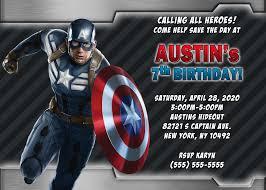 avengers invites captain america birthday invitations kustom kreations