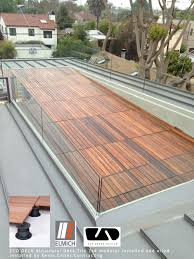 structural ipe deck tiles by eco arbor designs