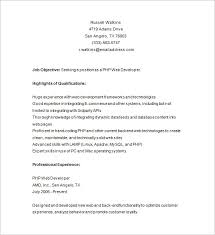 Latest Resume Samples For Experienced by Php Developer Resume Template U2013 19 Free Samples Examples Format