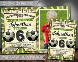 soccer invitation etsy