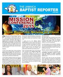 baptist reporter june 2016 issue by jamaica baptist union issuu