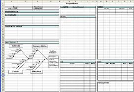Problem Solving Template Excel Toyota A3 Report A3 Report Template In Excel