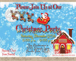 elegant christmas party invitation handmade digital file