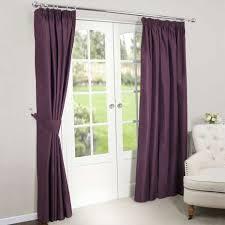 Aubergine Curtains Aubergine Blackout Pencil Pleat Curtains Dunelm