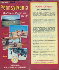 Pennsylvania travel box images 1960 39 s road maps of pennsylvania jpg