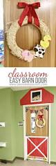 craft easy classroom barn door and farm animal wreath see
