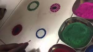 magic finger rangoli designs 3 by seema tammewar aurangabad youtube
