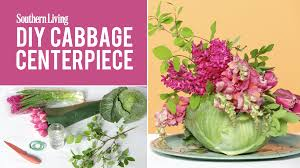 how to make a mother u0027s day diy cabbage centerpiece southern living
