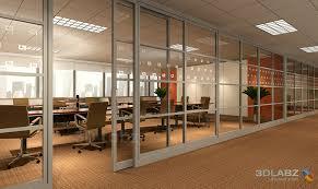 Temporary Door Solutions Interior Glass Wall Interior 3d Render Biz Trends Pinterest Sliding