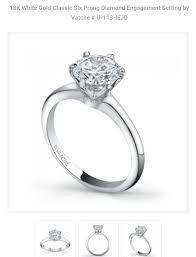 6 prong engagement ring 6 prongs make look smaller weddingbee