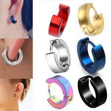 hoop huggie mens hoop earrings ebay