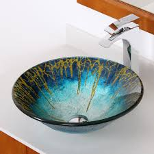 1309 elite modern design tempered glass bathroom vessel sink