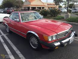 classic red mercedes classic 1986 mercedes benz 560 sl cabriolet roadster for sale
