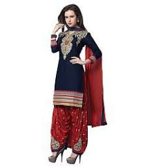 navy salwar suits buy navy salwar kameez online at low prices in
