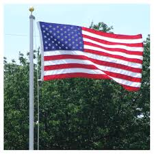 American Flag Specs 20ft Valley Forge Aluminum Flagpole W 3x5ft Us Flag
