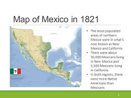 map of mexico 1821 independence october 2 1835 april 21 ppt