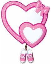 Baby Pink Christmas Decorations Fall Into Savings On Baby Booties First Christmas Ornament