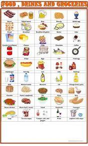 21 free esl food pictionary worksheets