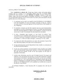Authorization Letter Meralco Application Spa Process Of Docu Transfer Title Power Of Attorney