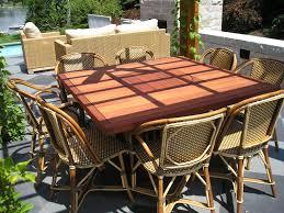 8 Chair Patio Dining Set - patio 48 patio dining table rustico rectangular outdoor patio