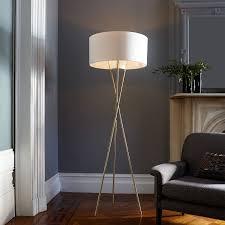 Midcentury Modern Floor Lamp - mid century tripod floor lamp antique brass west elm