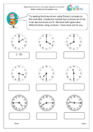 numerals reading time to 5 minutes