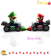 pvc mario kart super mario color mario bros kart model
