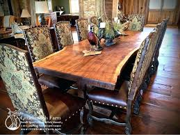 live edge round table rustic wooden dining room tables refined rustic dining table rustic