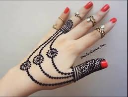 easy simple jewellery ornamental henna mehndi designs for